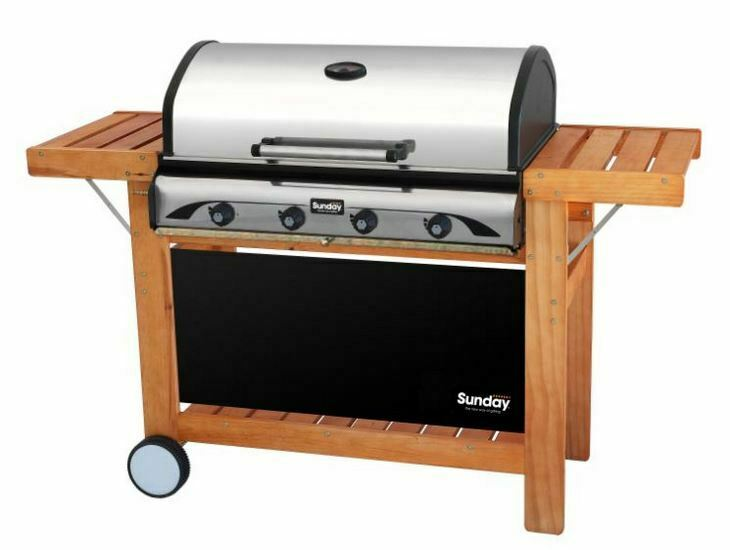 BARBECUE GRILL a gas cottura combinata lava+piastra 4 bruciatori PROFY 4  SUNDAY