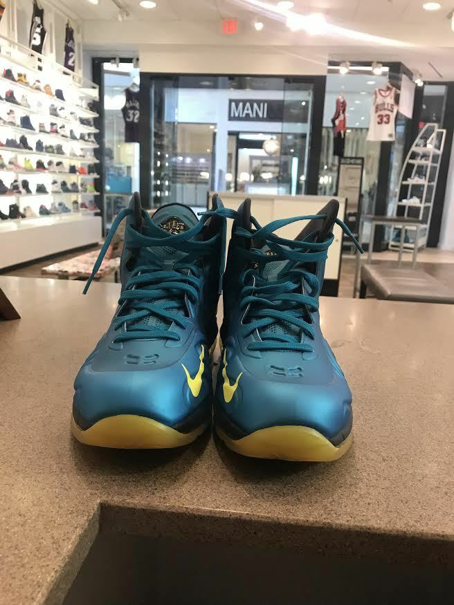 Nike Air Max Hyperposite 524862-303 Tropical Teal Basketball Shoes Size 11