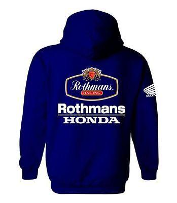 WHITE S - XXL Rothmans Honda Motor Bike Inspired Hoody Hoodie Shirt SIZES
