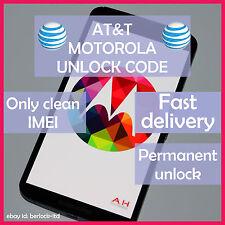 AT&T Motorola Atrix 2 MB865 4G MB860 HD MB886 BRAVO MB520 Code Unlock Service