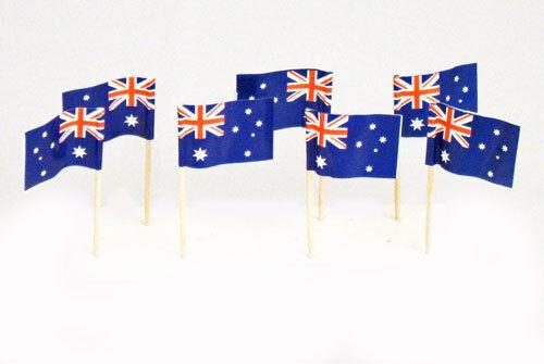 Australia Day Cocktail Picks Tooth Picks 6.5 CM 200 Australian Flag Food Picks