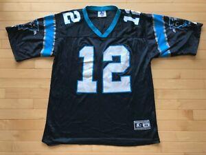 Details about Vtg Kerry Collins #12 Carolina Panthers STARTER Black NFL Jersey Sz 48 L USA 90s