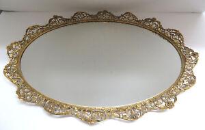 Vintage-Metal-Frame-Vanity-Mirror-Perfume-Tray