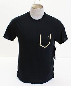 Saucony-Black-Race-Pace-Short-Sleeve-Running-Shirt-Men-039-s-NWT