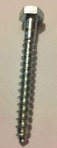 M8 COACH SCREW HEX HEAD WOOD HEXAGON SCREWS LAG BOLT ZINC PLATED BZP DIN571 M6