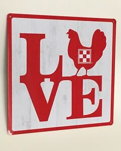 New Purina Feed Chicken Coop Metal Sign Red Spoiled Hens Make Better Eggs Tin