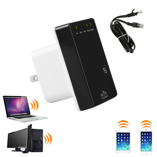 300Mbs Wifi Signal Extender Booster Wireless-N Range AP 802.1B//G//N Wifi Repeater