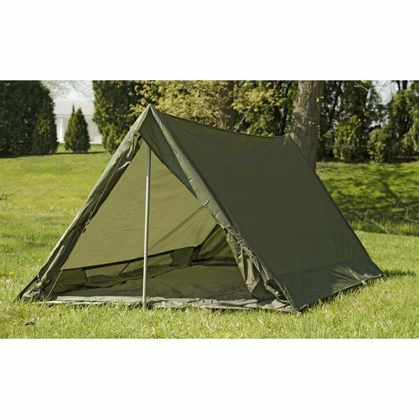 French  Army F1 lightweight nylon commando tent in olive drab.  comfortable