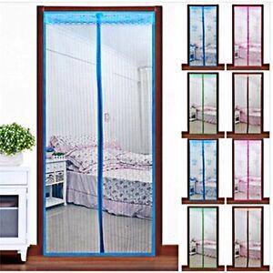 Image is loading Mesh-Door-Magic-Curtain-Net-Magnetic-Snap-Fly-  sc 1 st  eBay & Mesh Door Magic Curtain Net Magnetic Snap Fly Bug Insect Mosquito ...