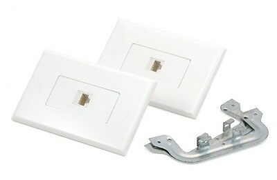 Cat6 RJ45 Ethernet Wall Plate Kit Punch Down
