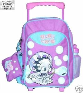 Betty Boop baby midsize rolling BACKPACK bag for school 12