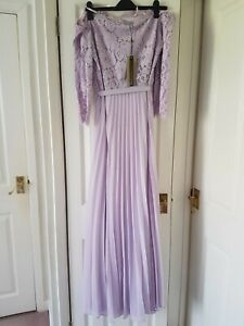 0d238d6001a9 Coast Imi Lace Bardot Lilac Maxi Dress Sizes UK 14 (Brand New With ...