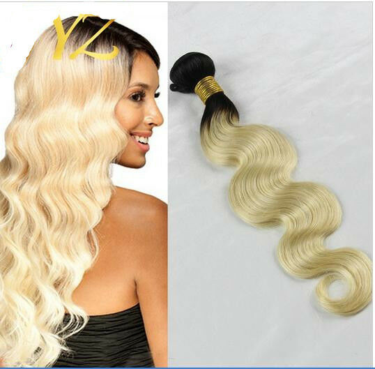Ombre #613Unprocessed Virgin Brazilian Body Wave Hair Weave Extension Human Hair