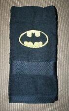 """Batman"" 1 Black Hand Towel  NWOT embroidered w/yellow thread"