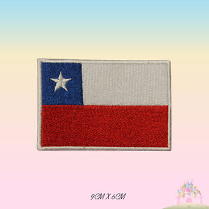 Chile National Flag Embroidered Iron On Patch Sew On Badge Applique