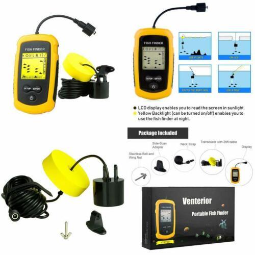 Handheld Fishfinder Fish Depth Finder Venterior Vt-Ff001 Portable Fish Finder