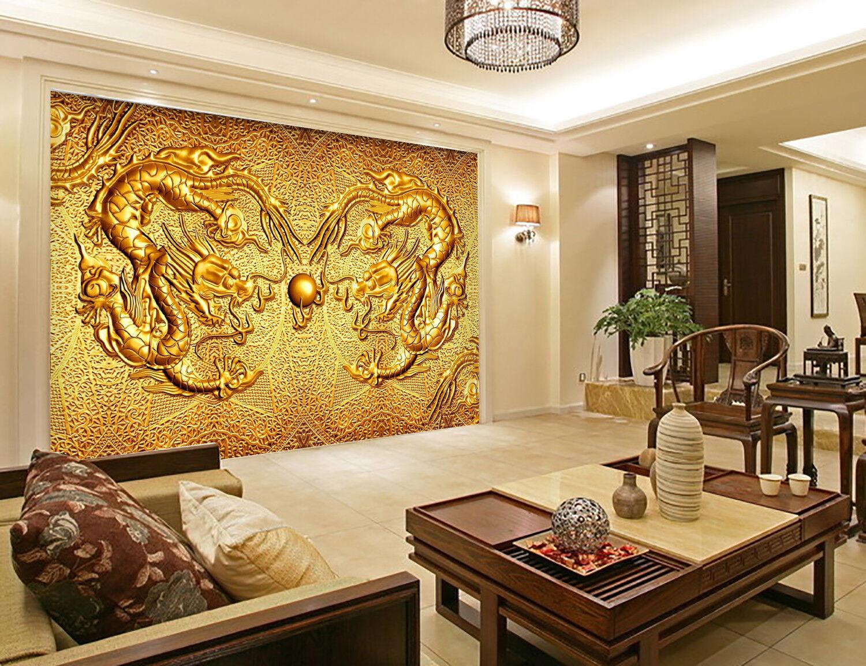 3D Gold Drache Totem 8947 Tapete Wandgemälde Tapeten Tapeten Tapeten Bild Familie DE Kyra   Der neueste Stil  fc5a60