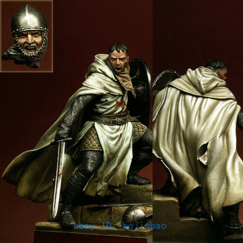 1 18 Scale 90mm Shield Ancient Knight Resin Model Unpainted Garge Kit High-Q New