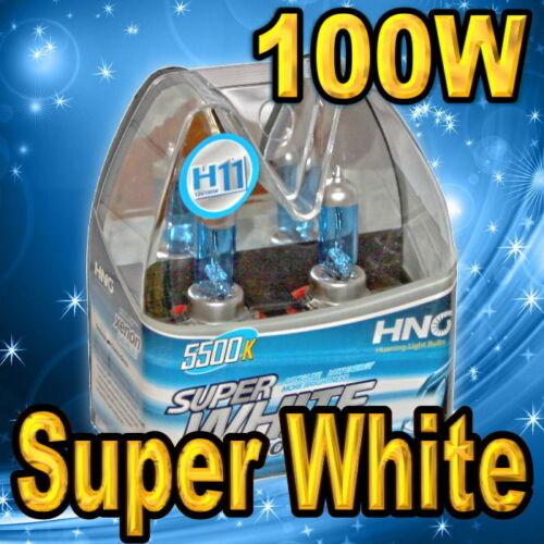 2x H11 Xenon Halogen Headlight Bulbs Low Beam 100W Super White 5500K !