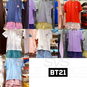 BTS-BT21-Official-Authentic-Goods-Summer-Pajama-SET-7Characters-by-Line-Friends
