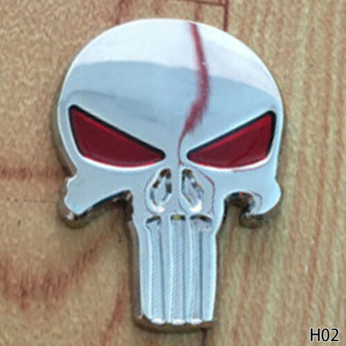 Universal Punisher 3D skull Skeleton Car Rear Body Side Badge Emblem Sticker