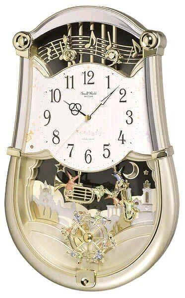 RHYTHM Small World Clock Quartz Concerto Entertainer 4MH774WS48