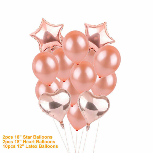 Rose Gold 18//21st//30//40//50 Happy Birthday Balloons Number Confetti Party Curtain