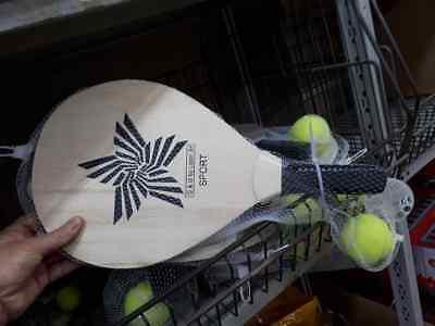 Onesto 2 Racchettoni Legno Beach Tennis Mare Alta Qualita' Wooden Beach Snowshoes Jen