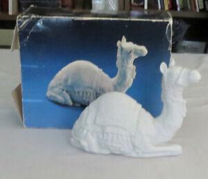 Avon Nativity White Bisque Camel in Box