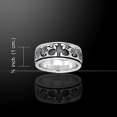 Dolphin spinner ring .925 Sterling Argent par Peter Stone bijoux