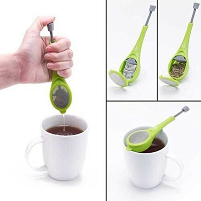 Tea Leaf Loose Tea Infuser Strainer Herbal Spice Silicone