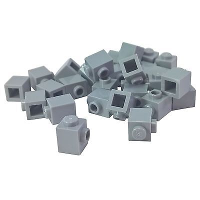 Genuine LEGO® Light Bluish Gray Brick Pieces Modified 1 x 1 with Stud on Sides