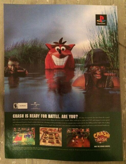 Crash Bash Crash Bandicoot Poster Ad Print Playstation