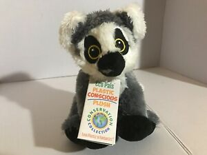 Plush Eco Pals Conservation Protection Wildlife Artists Ring-Tailed Lemur 7""