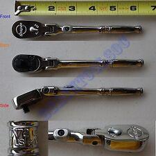 New Snap On 14 Ratchet Locking Flex Sealed Head Long Chrome Handle Dual 80 Tx72