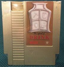 LEGEND OF DRINK GOLD NES Flask Nintendo Factory Second Ink Whiskey Zelda Link