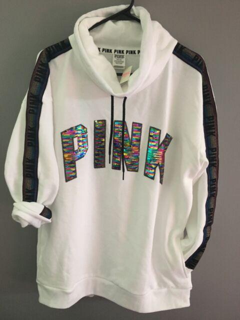 Victoria/'s Secret PINK Funnel-neck Fashion Show Hoodie *New w//o Tag* *Medium*