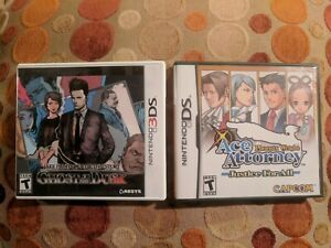 JAKE-HUNTER-GHOST-DUSK-ACE-ATTORNEY-JUSTICE-FOR-ALL-Nintendo-DS-3DS-Complete