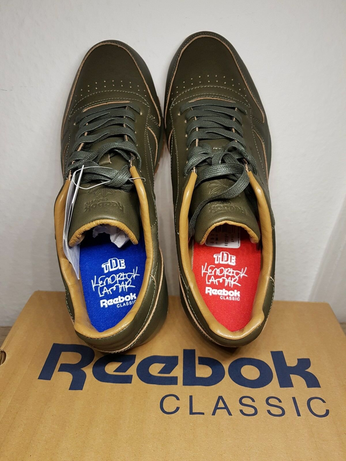 Reebok Classic Leather LUX Kendrick- Red & Blue- 45.5