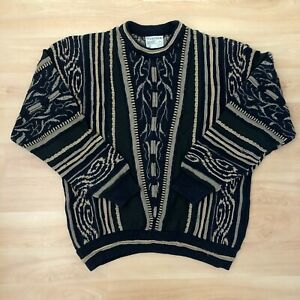 Vintage-Herren-Bill-Cosby-COOGI-Style-Pullover-80s-90s-Retro-Pullover-3d-Hip-Hop-toorallie