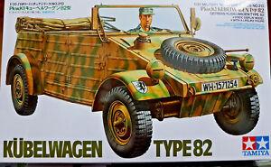 German-Kubelwagen-Type-82-Pkw-K1-Famosa-Jeep-Tedesca-Tamiya-Kits-1-35-35213