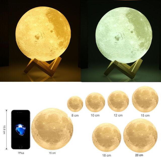 3D USB LED Magical Moon Night Light Moonlight Table Desk Moon Lamp Touch Sensor