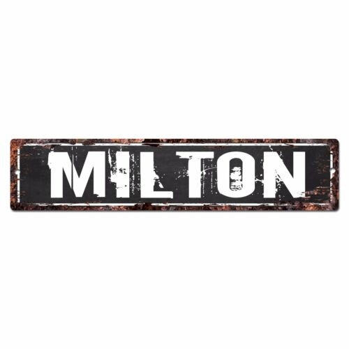 SFND0210 MILTON MAN CAVE Street Chic Sign Home man cave Decor Gift