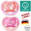 Doppelpack Mädchen Neu Philips Avent Ultra Air Schnuller 6-18 Monate Scf343//22