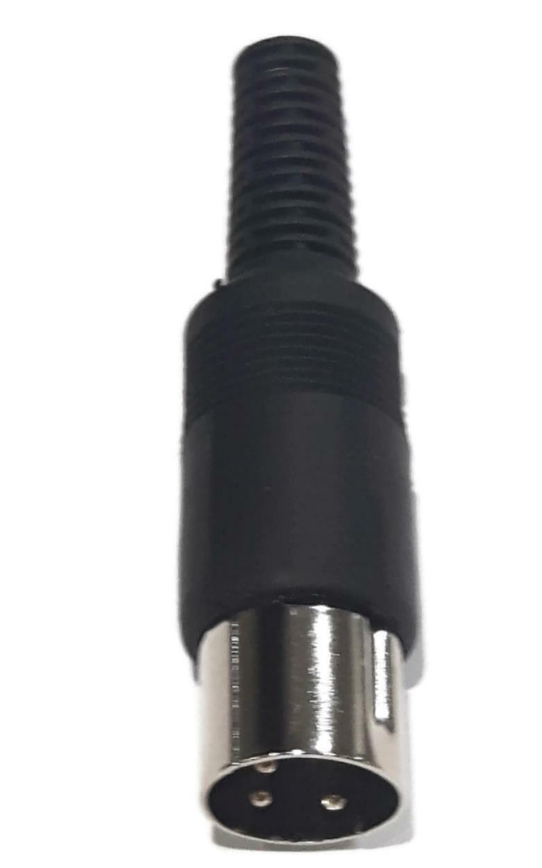 3-Pin DIN Male Plug Connector