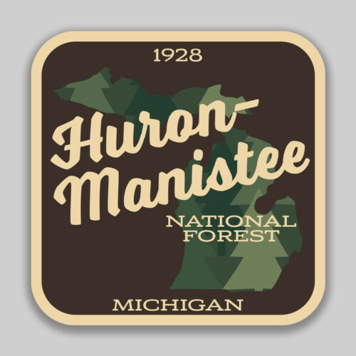 Huron Manistee National Forest Decal Sticker Explore Wanderlust Camping Hiking