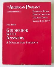 the american pageant 15th guidebook manual for students ap kennedy rh ebay com American Pageant 15th Edition American Pageant 15th Edition