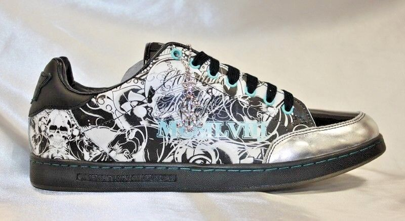 Men's Christian Audigier Black | Silver | Lt.Blue Sneakers