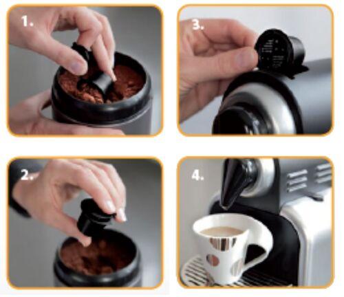 3 Stück Kapseln Nespresso Maschine Kapsel selber füllen wiederbefüllbar Refill