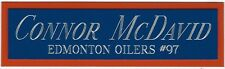 CONNOR MCDAVID NAMEPLATE AUTOGRAPHED Signed HOCKEY STICK PUCK JERSEY PHOTO CASE